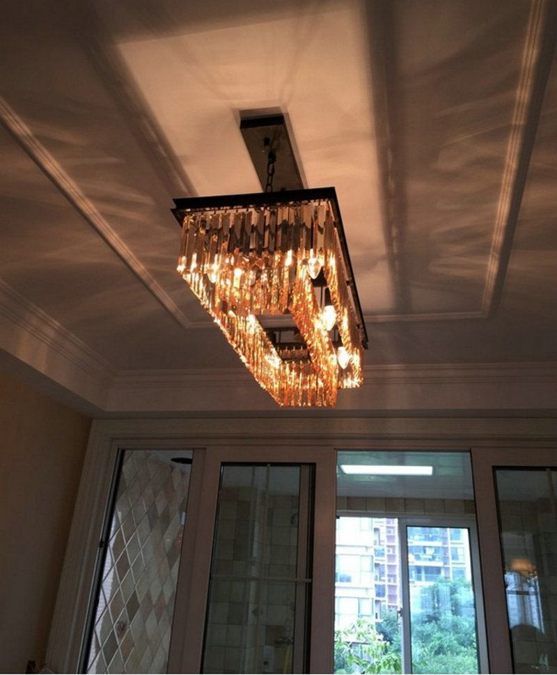 Chandelier Lighting Large Long Crystal Chandeliers Contemporary