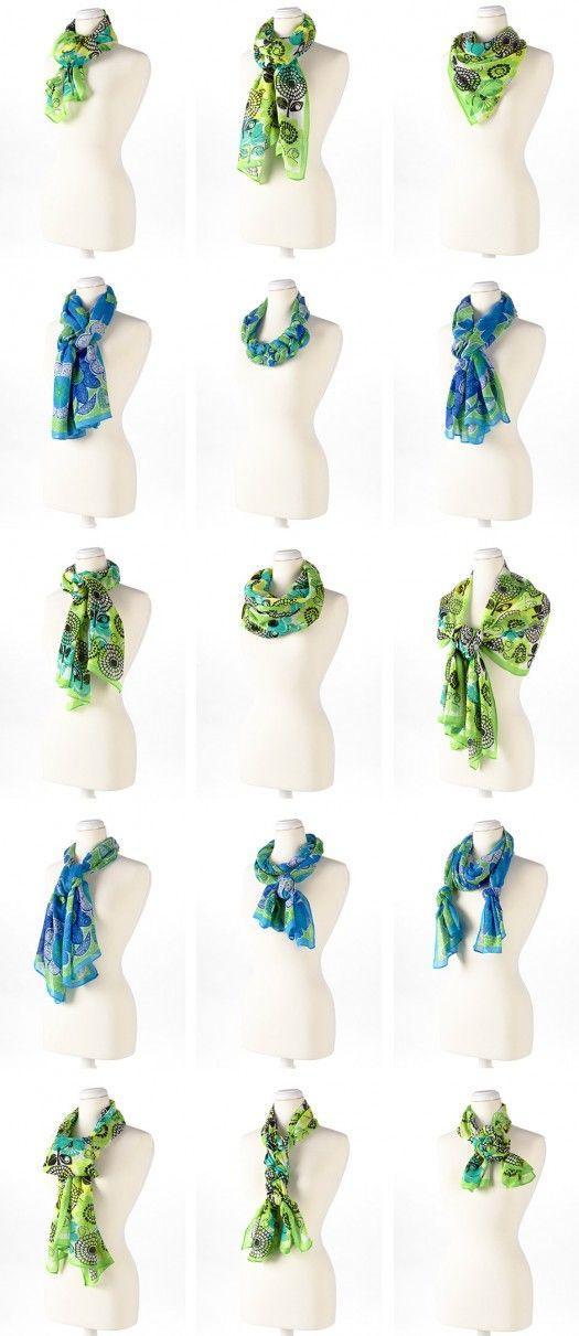 I NEED a Vera scarf.  Love!  And here are 15 ways to wear it!