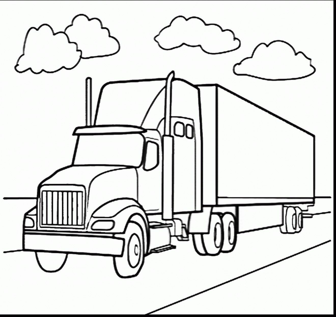 25 Pretty Photo Of Semi Truck Coloring Pages трафареты