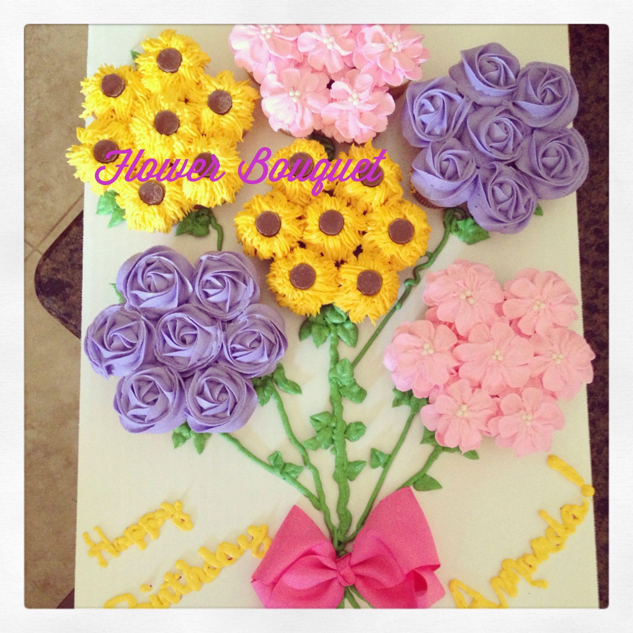 Cupcake flower bouquet adorable cake designs pinterest cupcake flower bouquet adorable izmirmasajfo