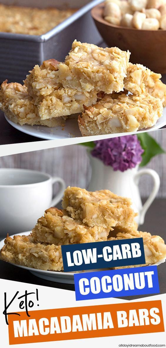 Whisk yourself away to the tropics with these delicious sugar-free Coconut Macadamia Bars. Featuring a tender almond flour crust and a slightly gooey filling, they are absolutely heavenly! Keto friendly and low carb.