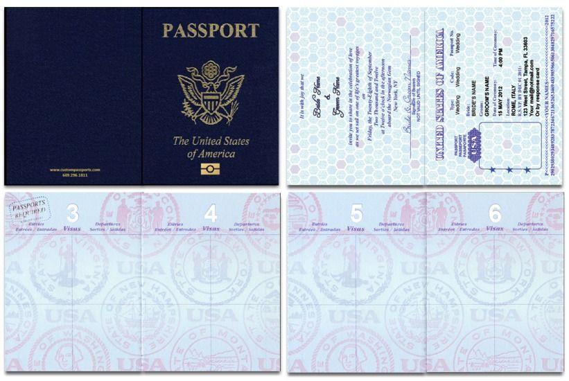 Passport 46 Standard Passport Custom Passport Invitations Passport Template Passport Invitation Template Passport Invitations