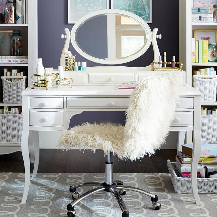Lilac Desk & Vanity Mirror Hutch | Lilacs, Vanities and Desks