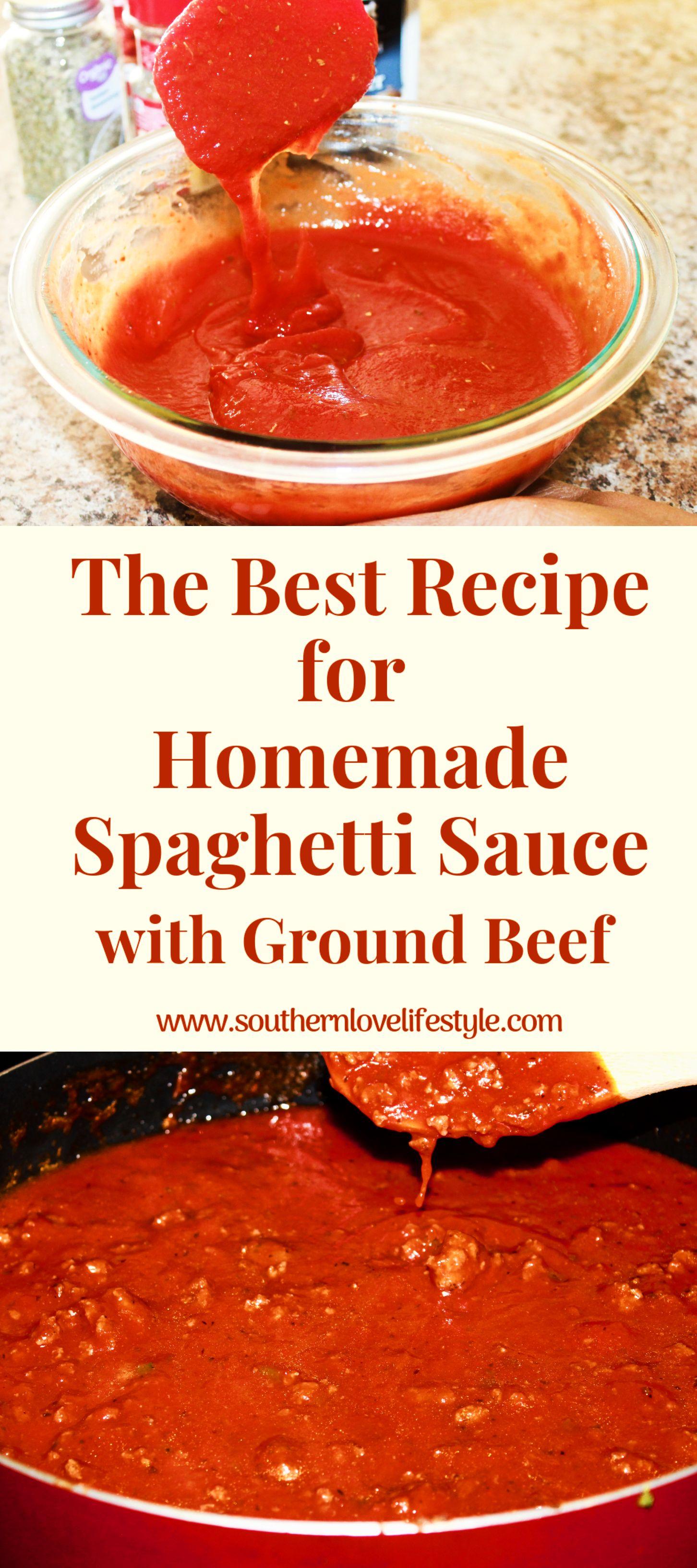 The Best Spaghetti Sauce Recipe Recipe Spaghetti Sauce Recipe Recipes Best Spaghetti Sauce