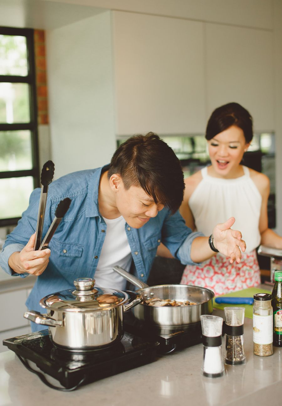 This couple shows us their mutual love of Italian food by
