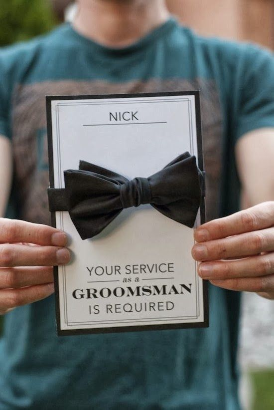 Will You Be My Groomsman Sweet Engagement