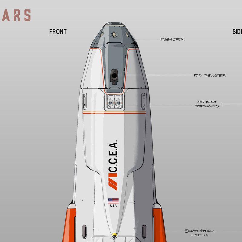 MARS the Daedalus by Oscar Cafaro on ArtStation Mars