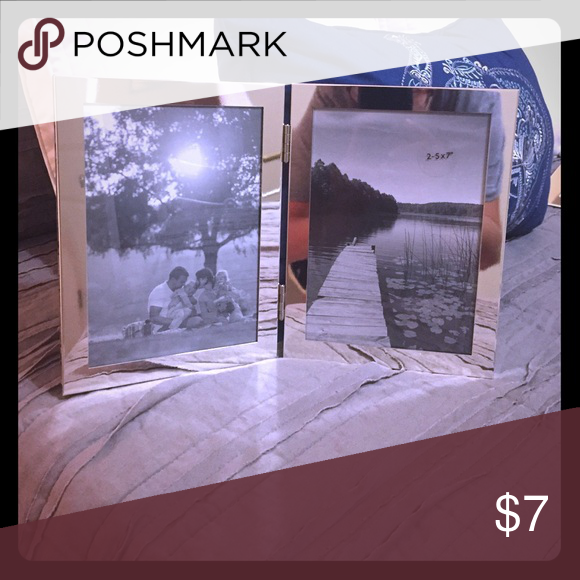 Picture Frame Double 5x7 picture frame, standing surface type. Metal ...