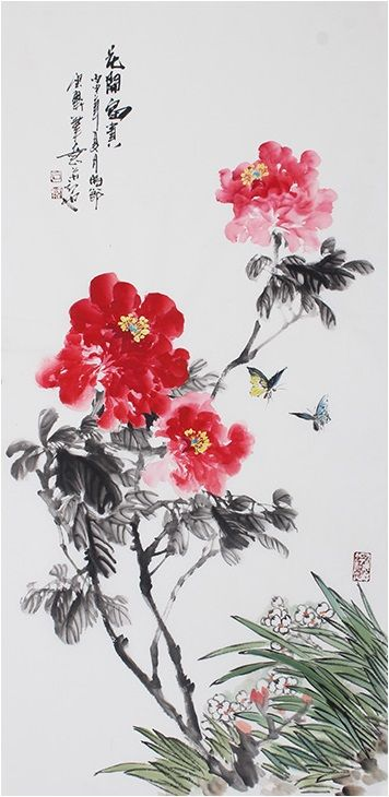 Modern Art Famous Artists Peony Painting Classic Best Flower Painting