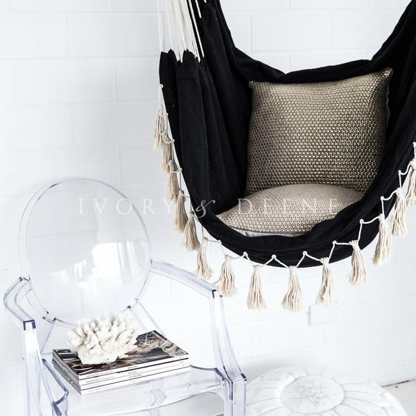 Hammock Chair Swing - Cream French Provincial Hanging Ghost - designer hangesessel satala fuss