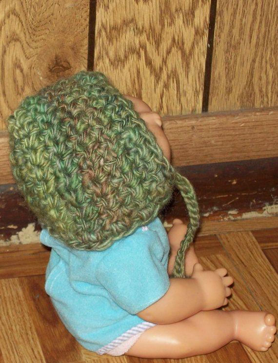 Green Pixie newborn bonnet 2 for 8 dollars by amydscrochet on Etsy, $5.00