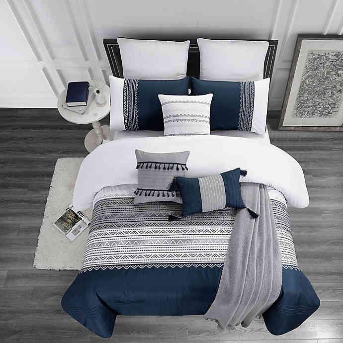 Hilden 10 Piece Comforter Set Bed Bath Beyond In 2020 Bedroom Comforter Sets Blue Master Bedroom Blue Bedroom Decor