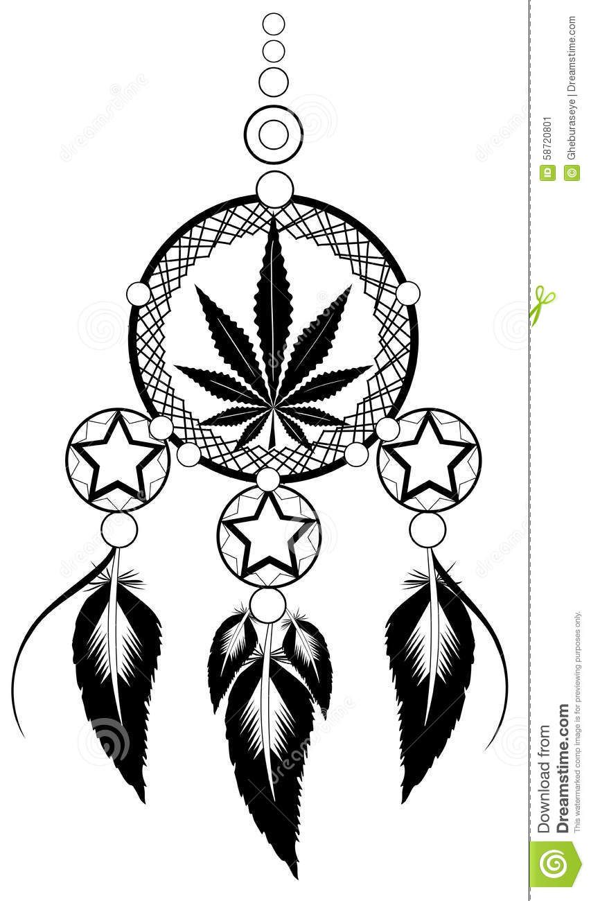 banishes-thoughts-marijuana-leaf-image-representing-stylized-usable ...