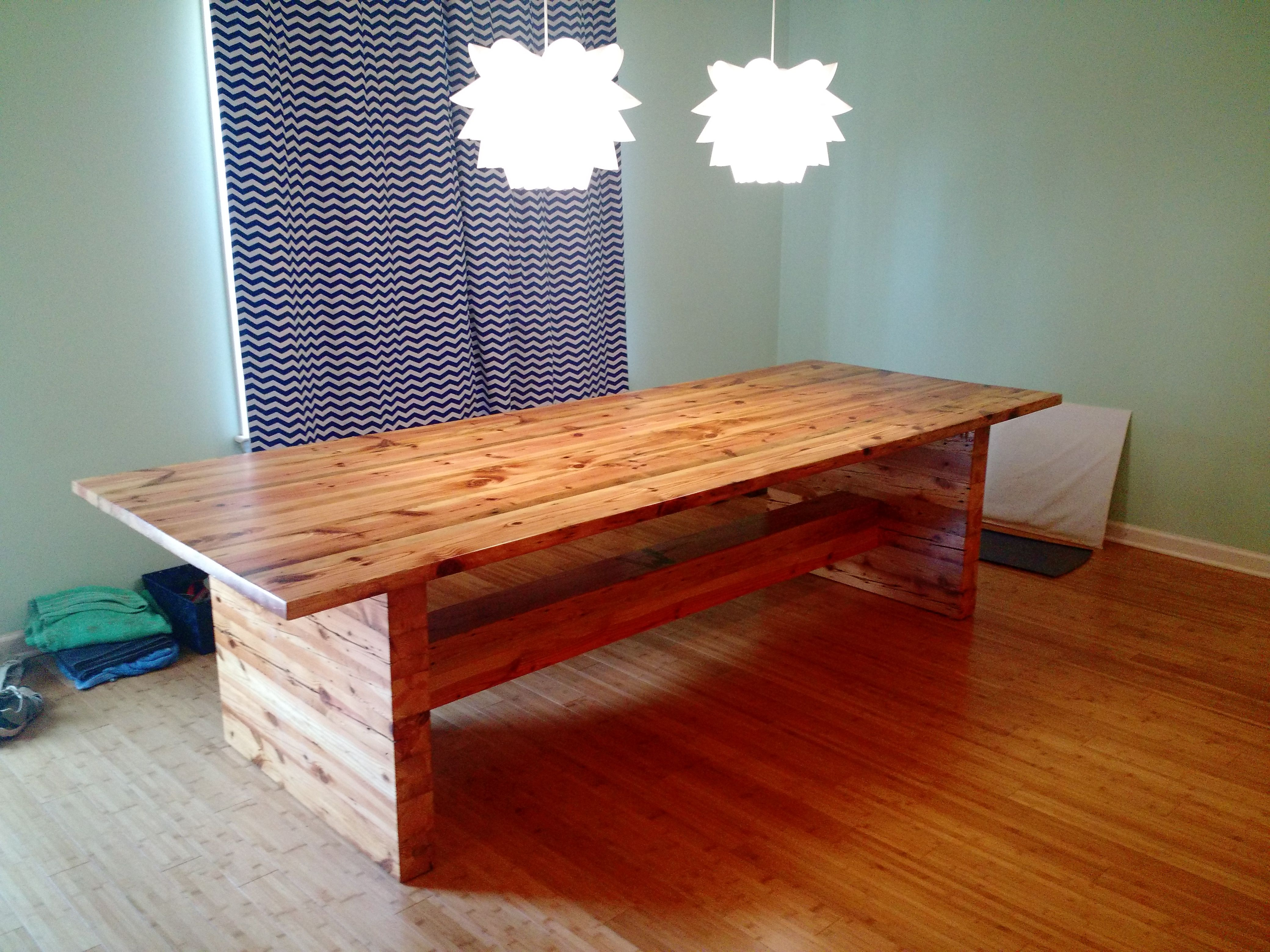 I Made A Rather Heavy Dining Room Table From The Framing Of An Extraordinary Handmade Dining Room Tables Decorating Design