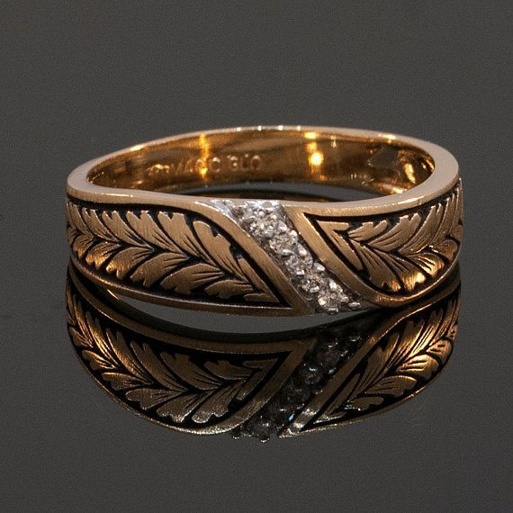 The PRINCE CHARMING 14K gold mens wedding band. via Etsy ...