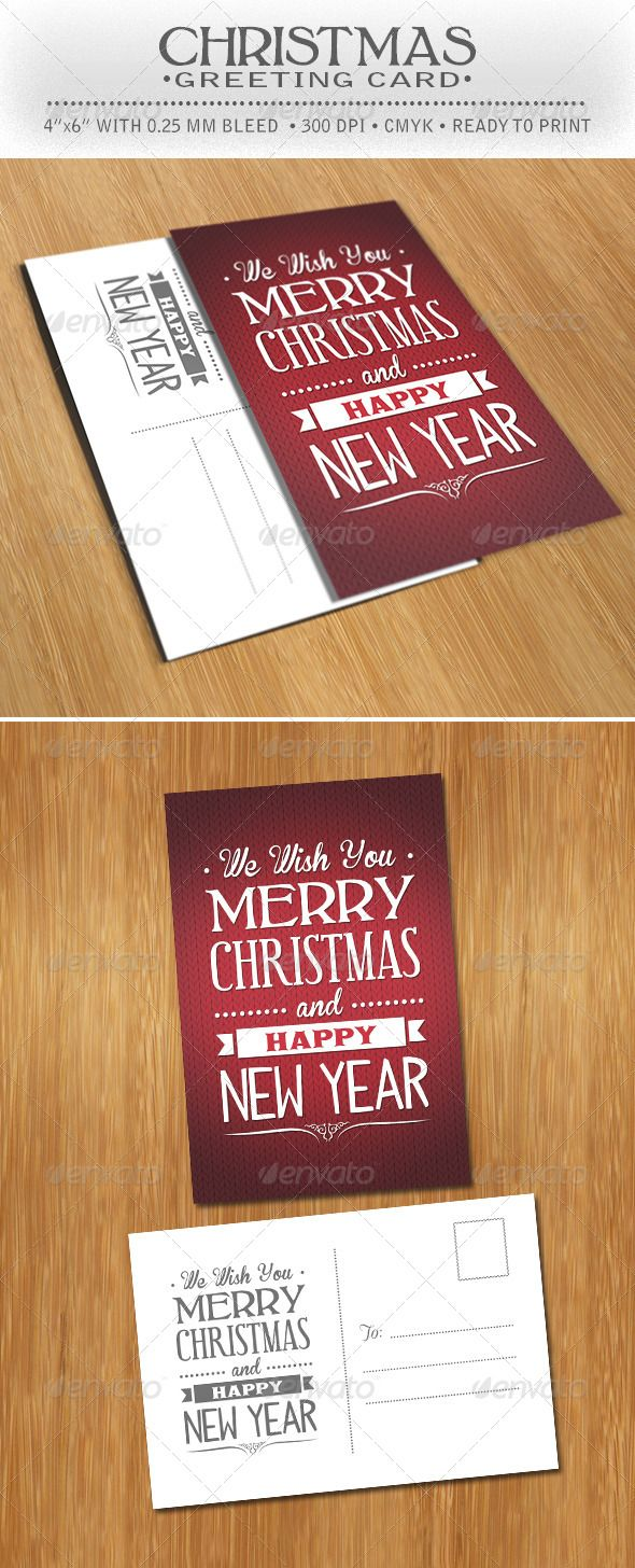 Christmas Greeting Postcard Photoshop PSD Santa Greetings O Available Here Graphicriver Item 6108905refpxcr