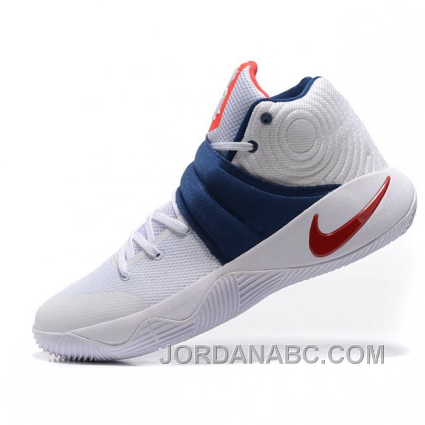 f806c9ca15d Nike Kyrie Irving 2 Indepence Day USA Signature White Navy Basketball  Sneaker Christmas Deals