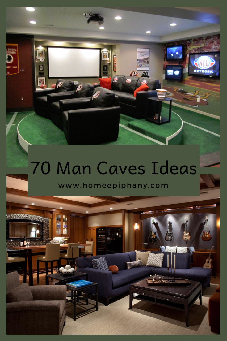 70 Man Caves In Finished Basements And Elsewhere Mancavebasement 70 Different Ideas For Man Caves Photo Gall Man Cave Room Finishing Basement Man Cave Design