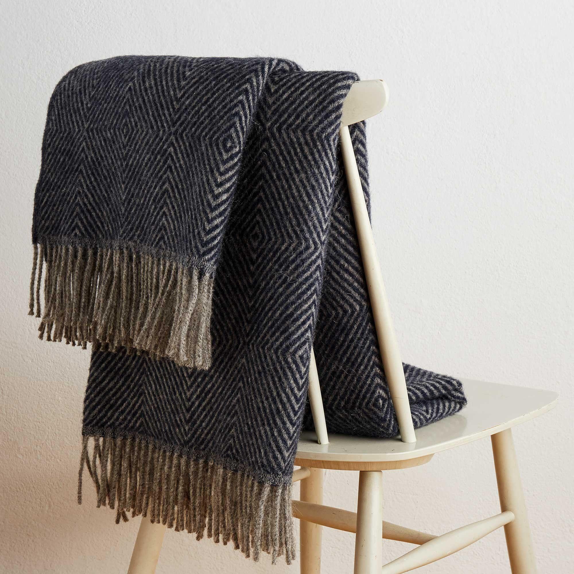 Wolldecke Gotland Wolldecke Blaue Decke Und Blau Grau