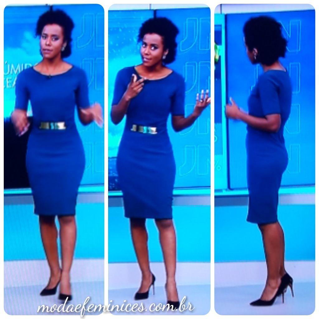 Vestido azul e preto jn