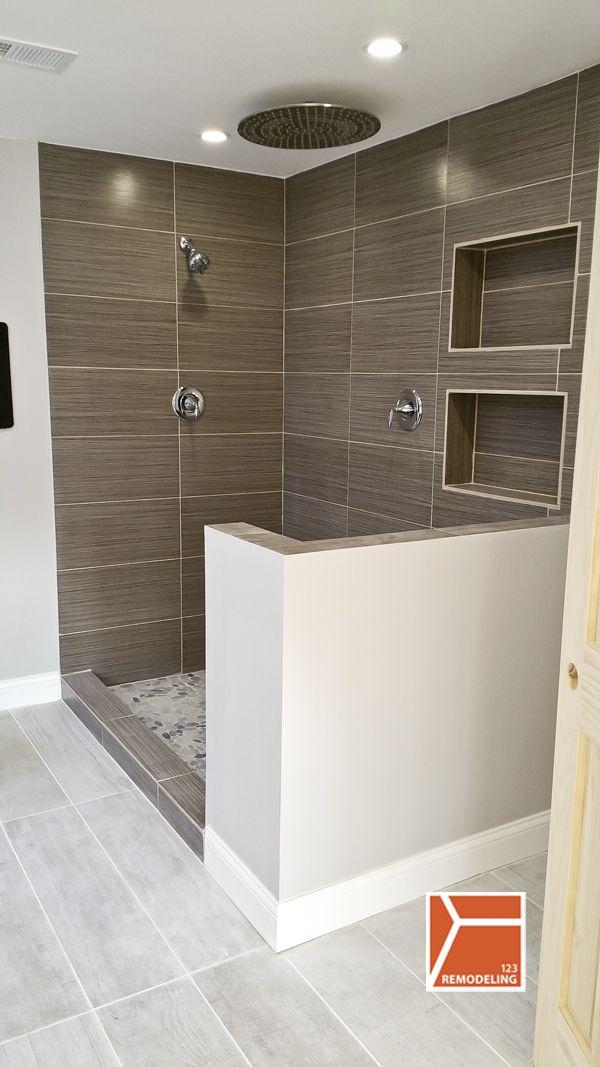 Skokie Bathroom Gut Remodel Spec House Pinterest Waterfall - Bathroom gut and remodel