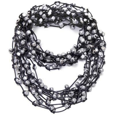 Jianhui Rubber & Wooden Cubes Necklace