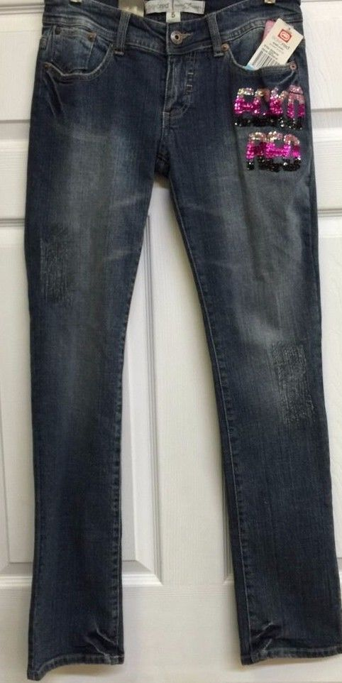 New Junior's EckoRed Devotion Jeans with Embellishments Size 5 - See Photos #EckoRed #Jeans