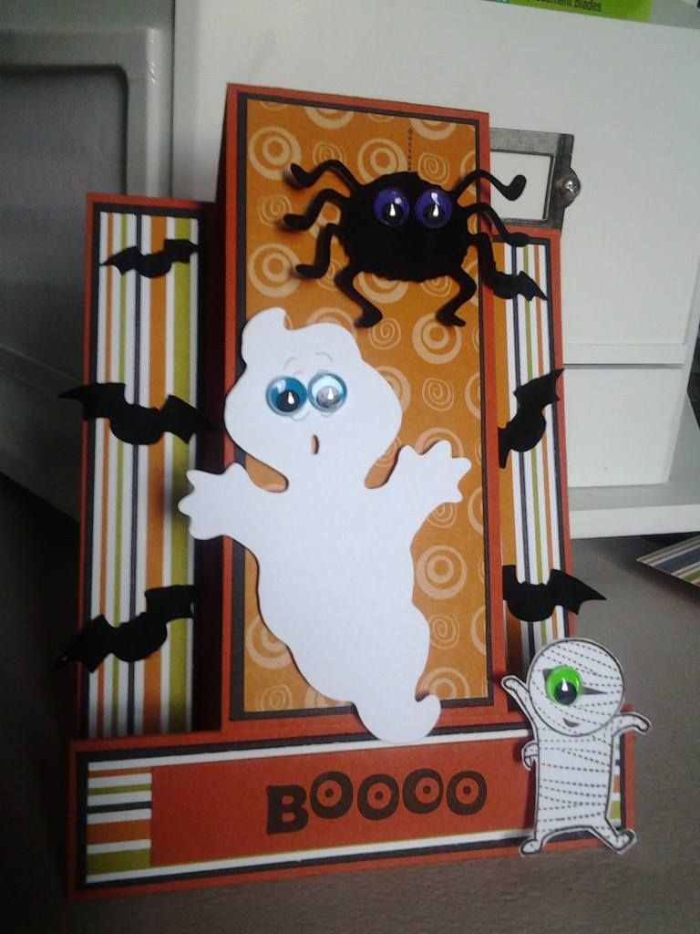 First halloween Card of the year!  Double Side step 4 by 5.5