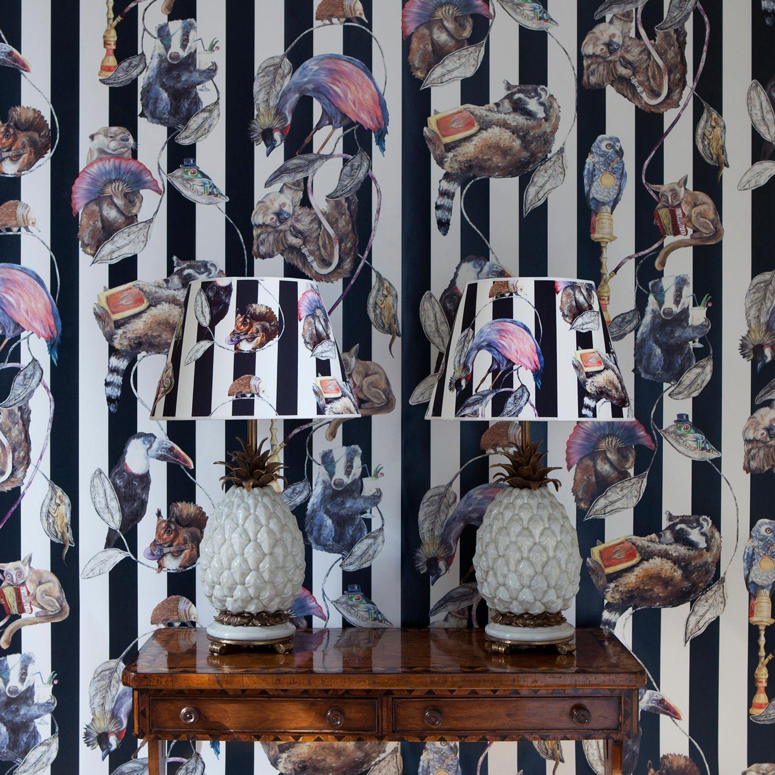 HACKNEY EMPIRE Wallpaper Midnight Stripe