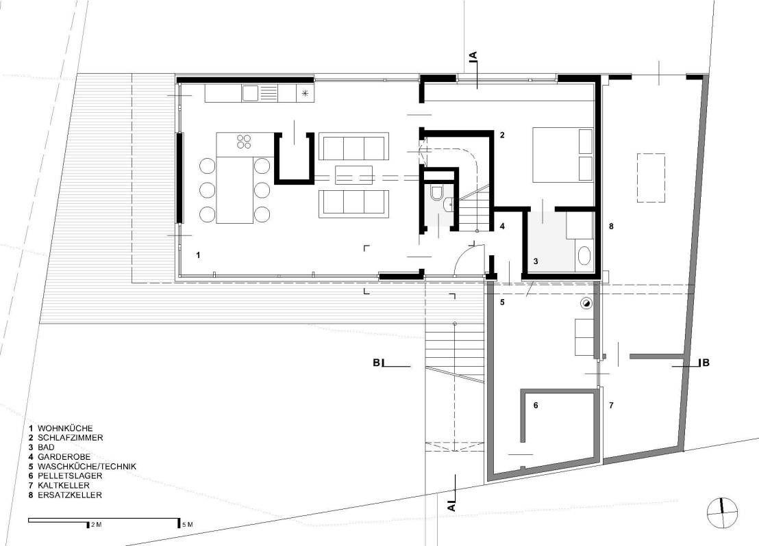 Erdgeschoss haus front design die moderne arche