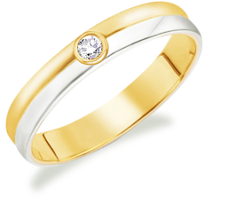 The Marie design is handcrafted with white gold and yellow gold with