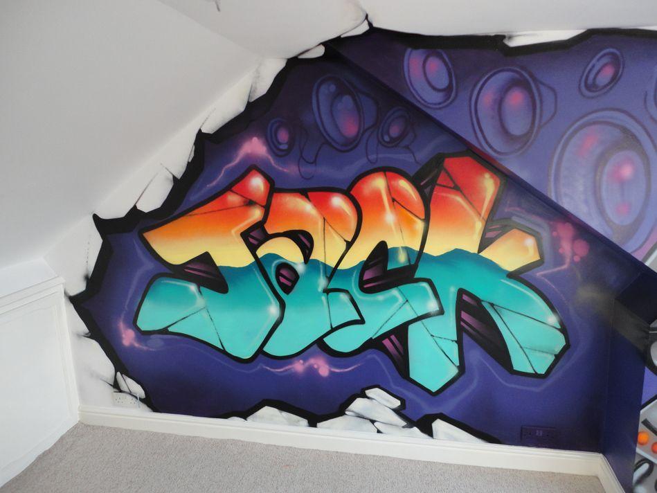 Graffiti Themed Room Google Search Room Pinterest - Bedroom graffiti art for kids