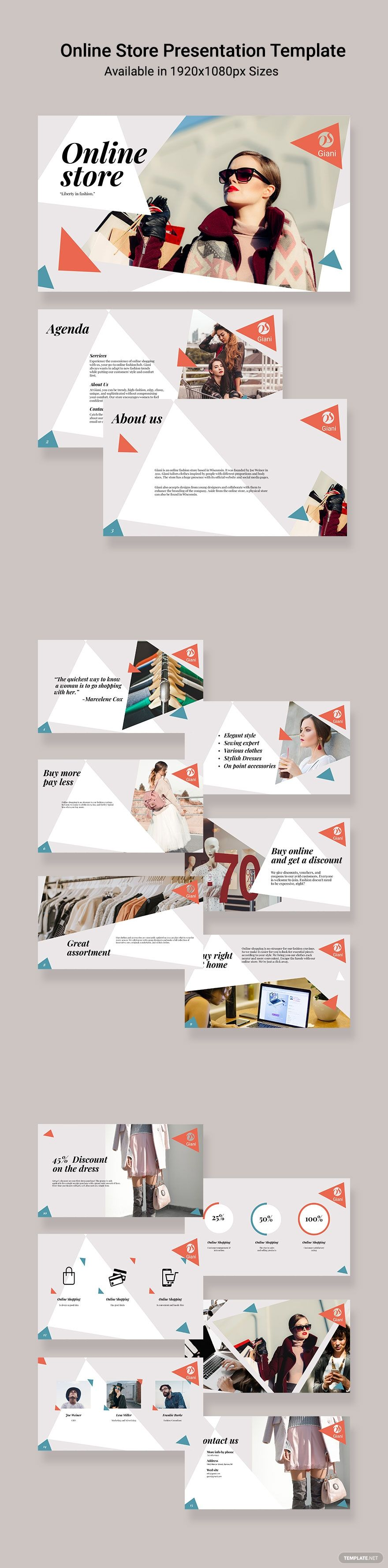 Online Store Presentation Template Pdf Word Apple Pages Google Docs Powerpoint Apple Keynote Presentation Templates Presentation Leaflet Template
