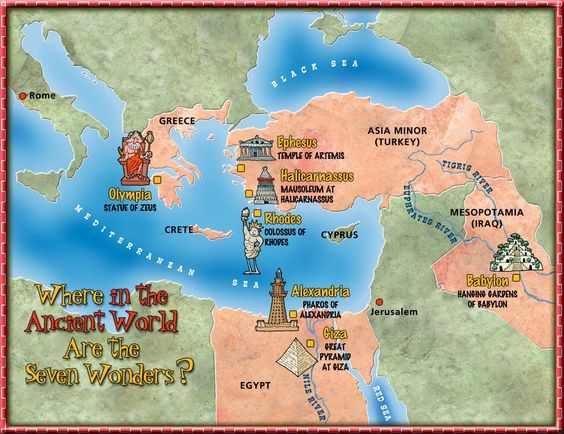 history seven wonders cover map