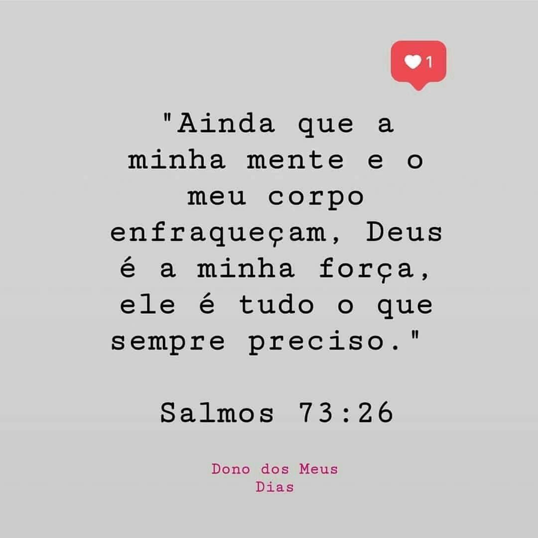 Deus é A Minha Força Socorro Sempre Presente Frases Deus
