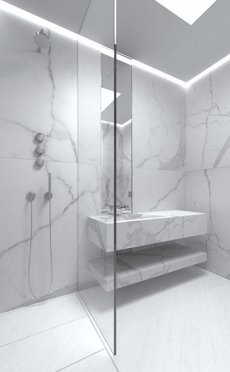 Moderne Badezimmer · Badewannen · A Cero | Clean U0026 Crisp Minimalism // GiGi