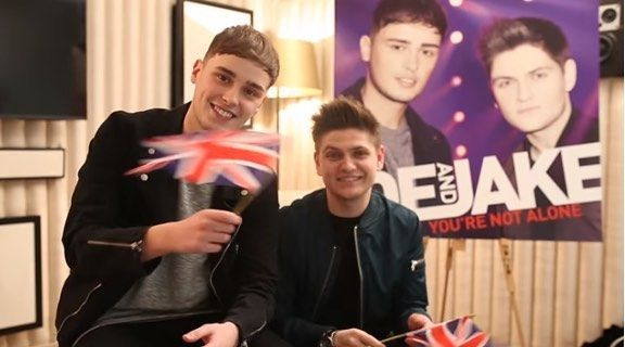 Joe and Jake have something to say...A BIG THANK YOU!  With just a few days to go do you have a good luck message youd like to send back to the boys? Upload your video or photo message using the hastag #joeandjakeWIN  http://ift.tt/1qbKW3c  Theres a special day in London trip to be won as well!  Team Joe and Jake x by joeandjakemusic #Eurovision #Eurovision2016
