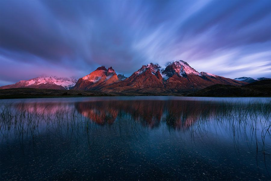 'Andean Alpenglow' by Hougaard Malan on 500px. Location: Patagonia, Chile.
