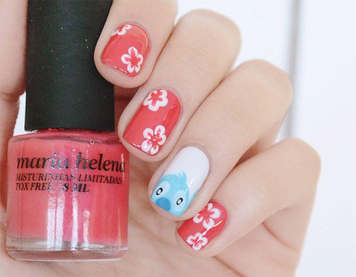nail art lilo & stitch