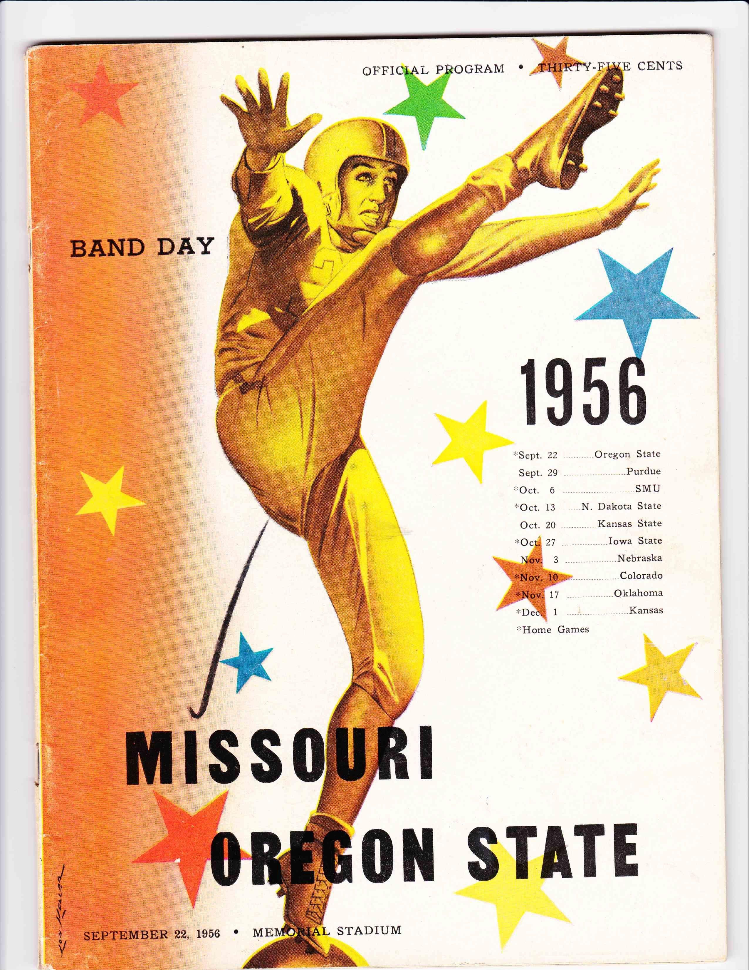 Oregon state vs missouri football program 1956 iowa