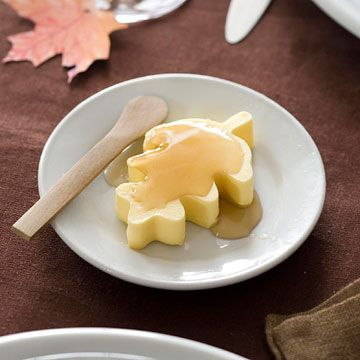 Maple leaf butter/honey