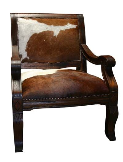 Cowhide Barstools Vintage Black White Hairhide Leather Bar: Western Dining Chairs
