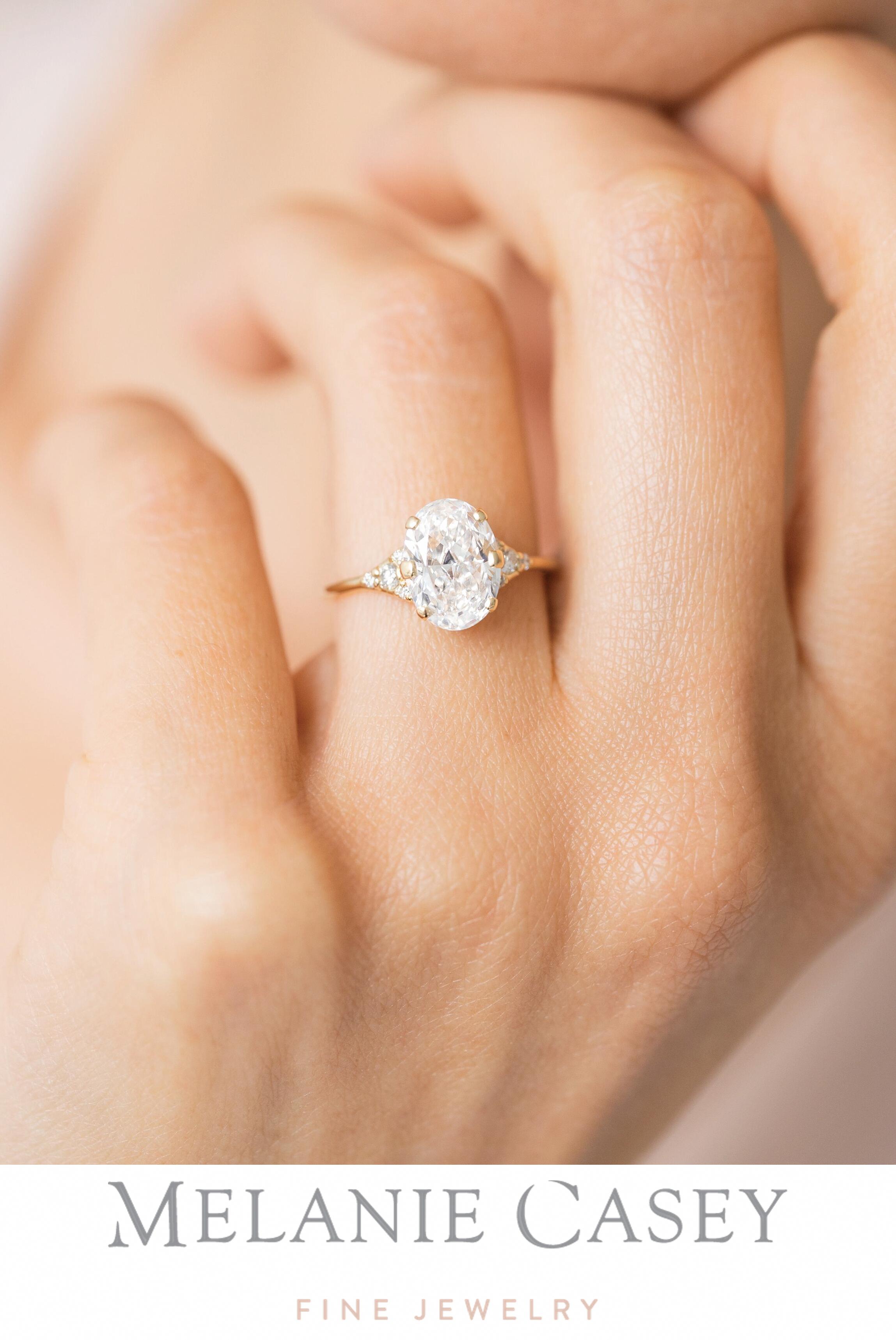 Oval Lady's Slipper Ring, 2ct. Diamond in 2020 White