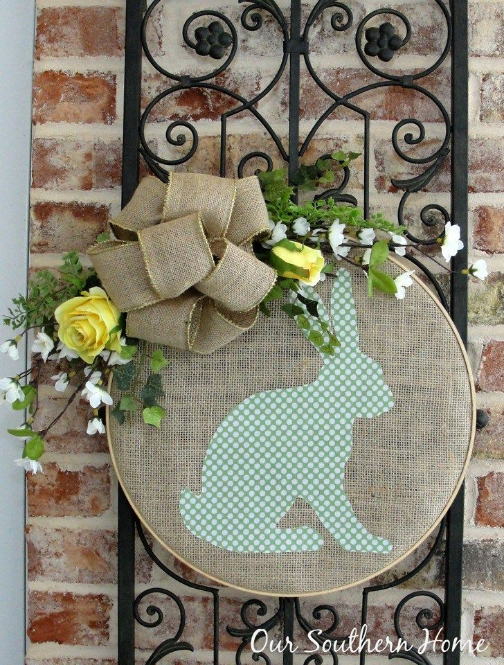 Photo of Bunny Hoop Wreath and Swing Into Spring Party – Our Southern Home