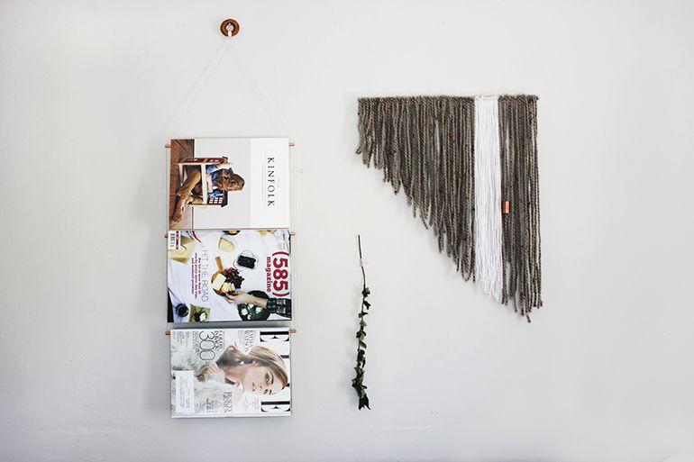 DIY Copper Magazine Display