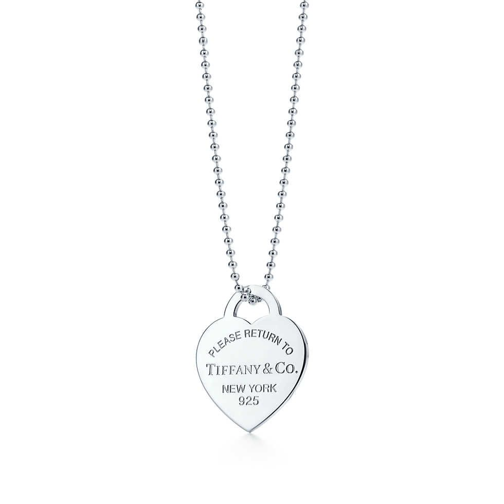 43590694bba3 Return to Tiffany™ heart tag pendant in sterling silver