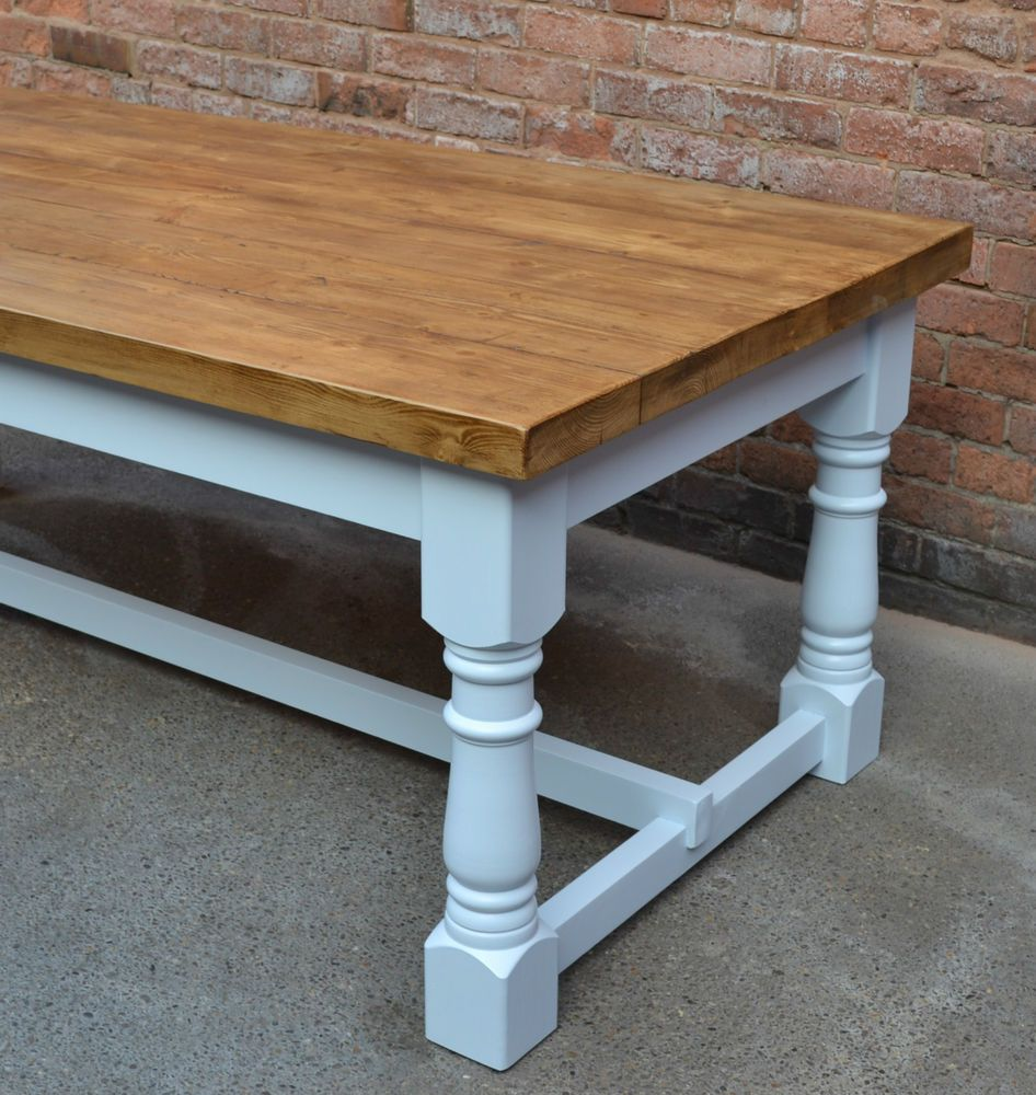 Stunning 7ft Refectory Farmhouse Table   Made To Order   Choose Frame  Colour In Home,