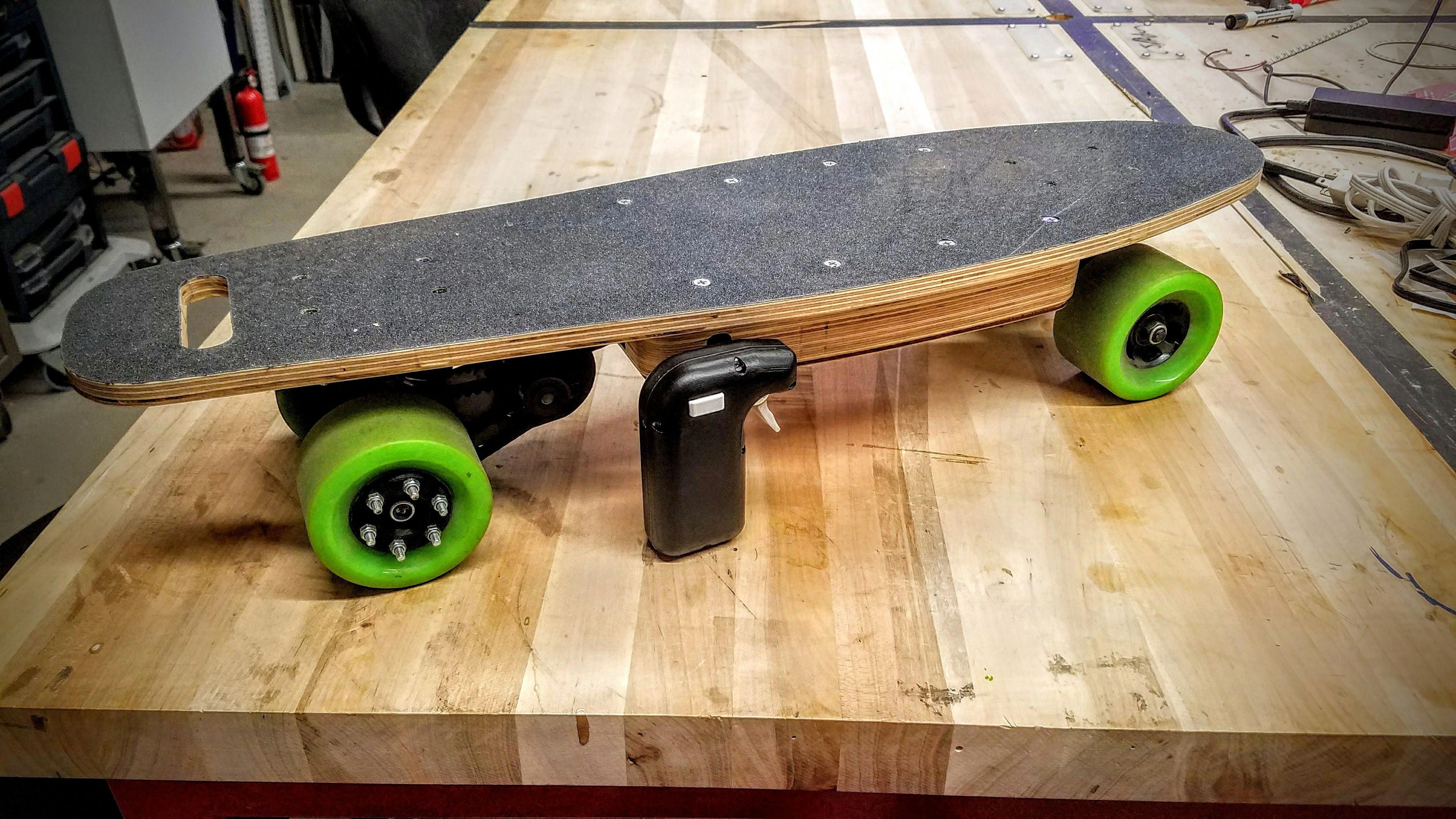 My 27 allplywood diy electric skateboard handmade