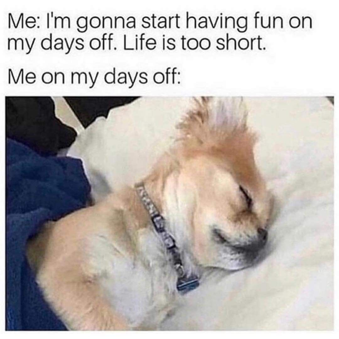Me I M Going To Start Having Fun On My Days Off Life Is Too Short Me On My Days Off Funny Memes Sarcastic Memes Sarcastic New Funny Memes