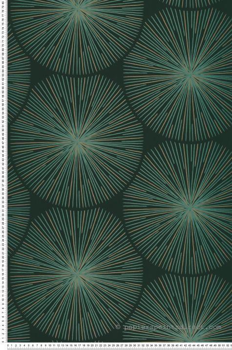 Papier Peint Oursin vert – Helsinki de Casadéco | Réf. HELS82047118